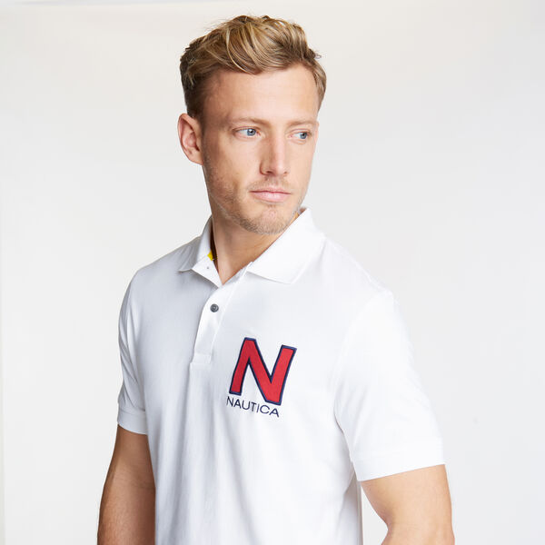 Short Sleeve 'N' Classic Fit Polo  - Bright White