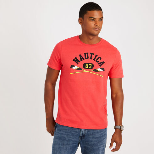 Short Sleeve Rowing Graphic T-Shirt - Buoy Red