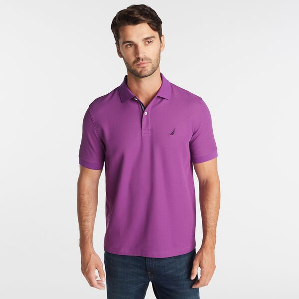CLASSIC-FIT PERFORMANCE POLO - Electric Purple