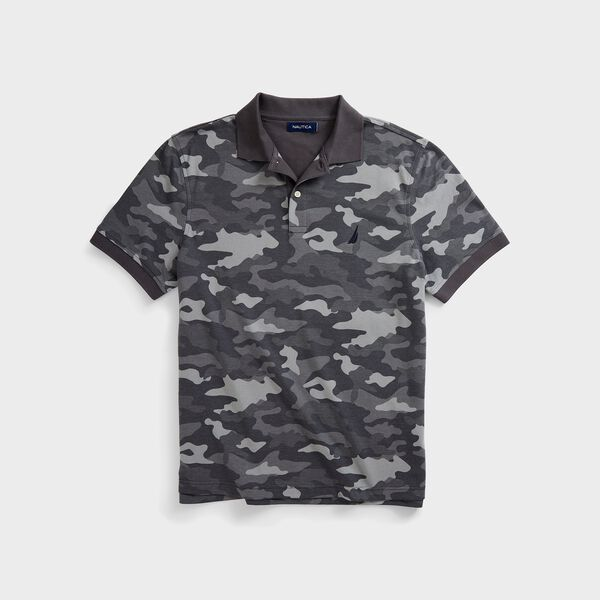CLASSIC FIT CAMOUFLAGE POLO - Grey Carbon
