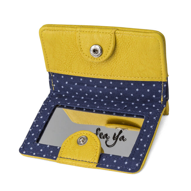 Mirror Card Case,Navy,large