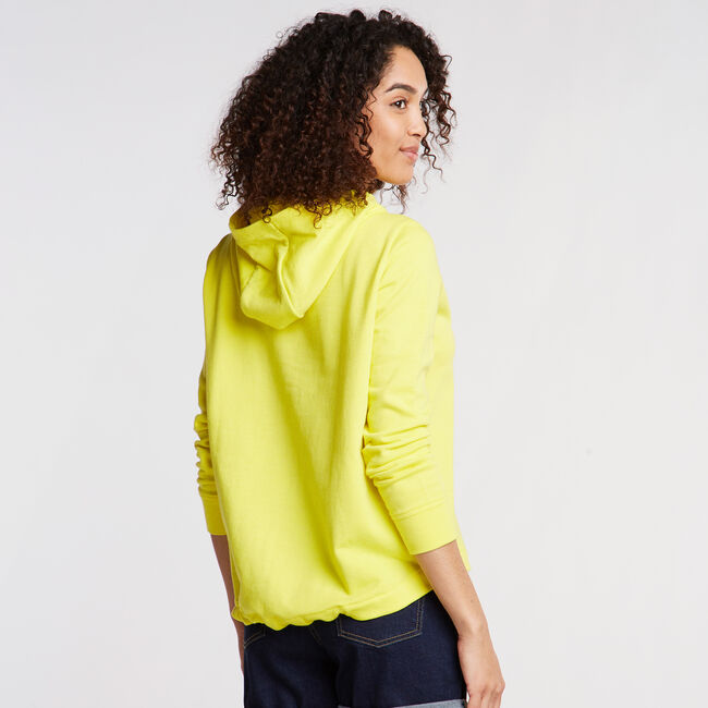 LOGO DRAWCORD FRENCH TERRY HOODIE,Blazing Yellow,large