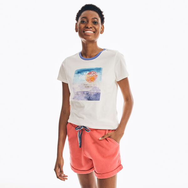 SUSTAINABLY CRAFTED SUNDAY GRAPHIC T-SHIRT - Marshmallow
