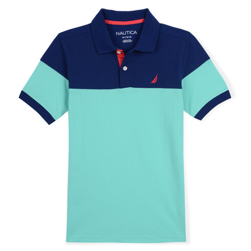 Toddler Boys' Lance Colorblock Heritage Polo (2T-4T) - Hunter Green