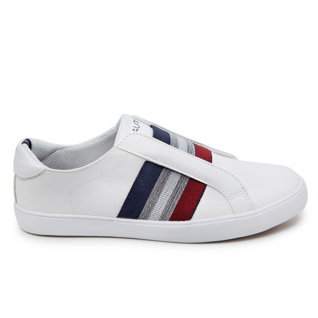 BENNET 2 STRIPE SLIP ON SNEAKERS,Antique White Wash,large