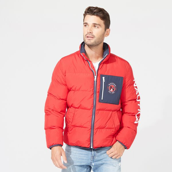 PUFFER JACKET WITH TEMPASPHERE - Nautica Red