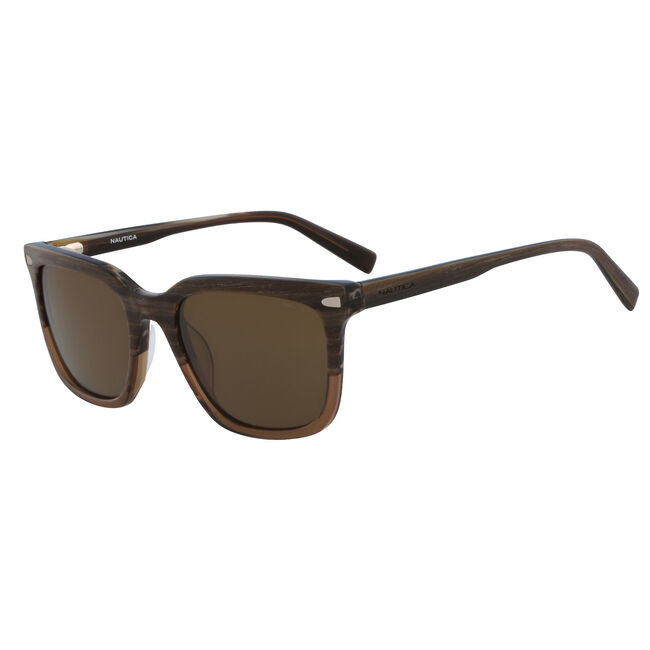 Classic Square Sunglasses,Wood Brown,large