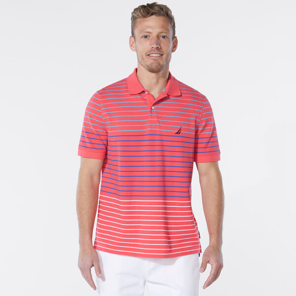 CLASSIC FIT STRIPE POLO - Persian Red