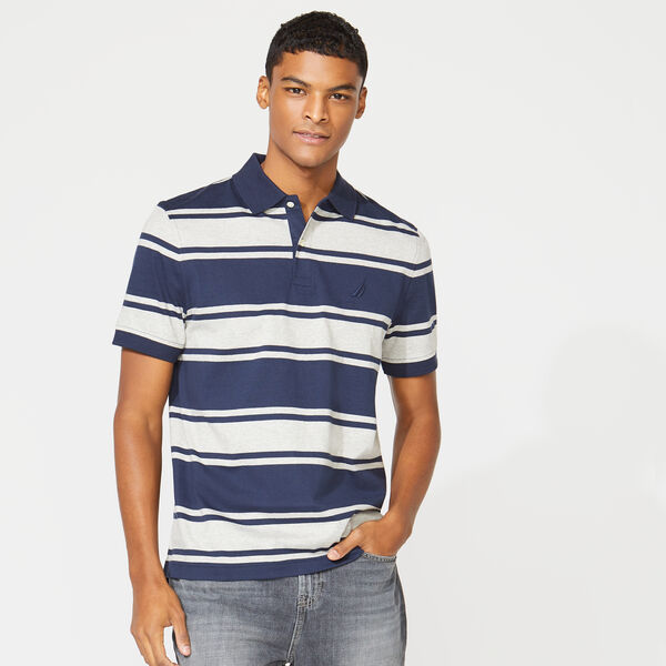 CLASSIC FIT STRIPED POLO - Navy