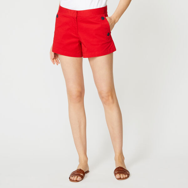 """4"""" STRETCH TWILL SAILOR SHORTS - Tomales Red"""