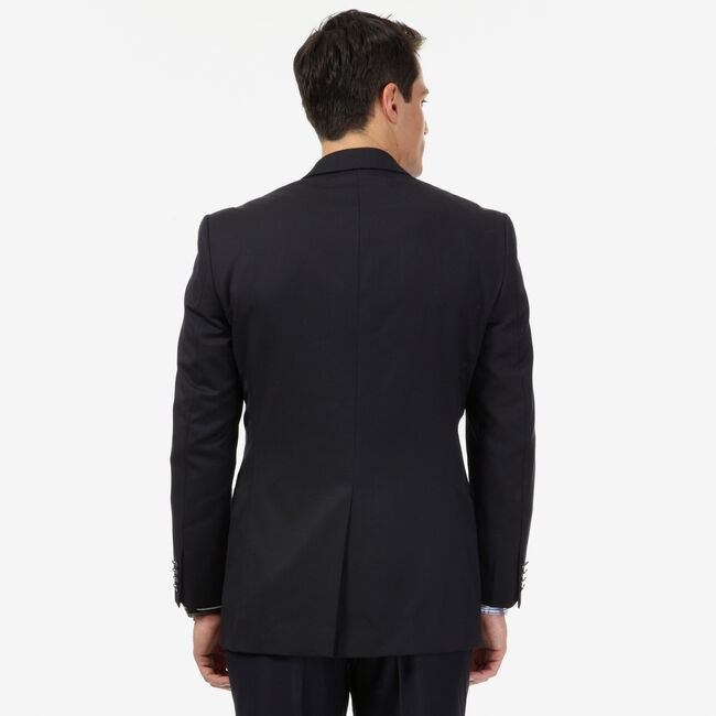 Wrinkle-Resistant Classic Navy Blazer,Bolt Blue,large