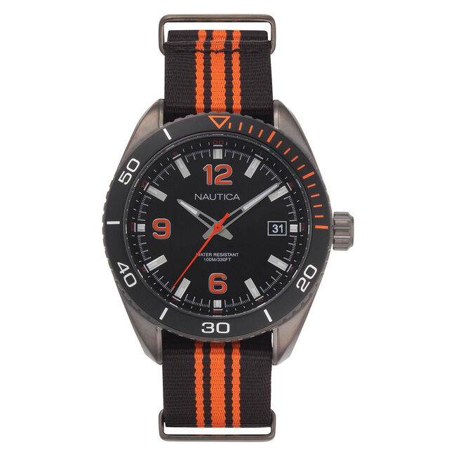 Key Biscayne 3-Hand Watch with Sport Strap,Multi,large