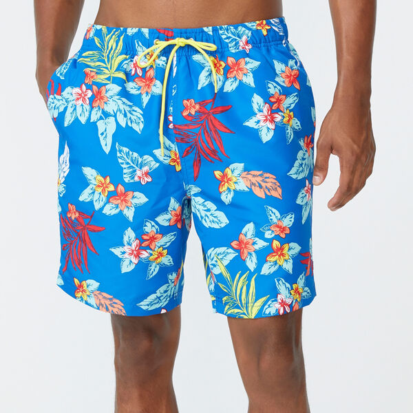 "8"" FLORAL PRINT SWIM - True Navy"