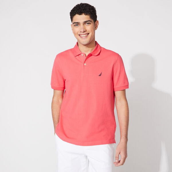 CLASSIC FIT PERFORMANCE PIQUE POLO - Persian Red