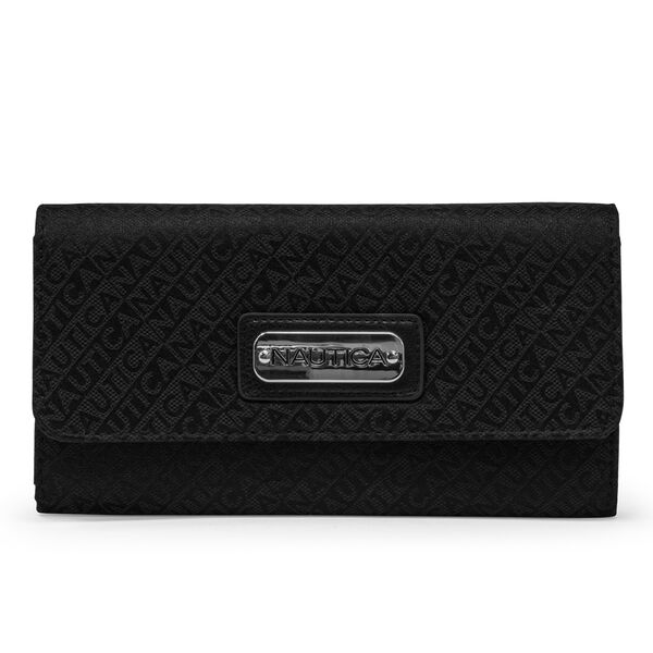 LAKESUDE JACQUARD CONTINENTAL WALLET - True Black