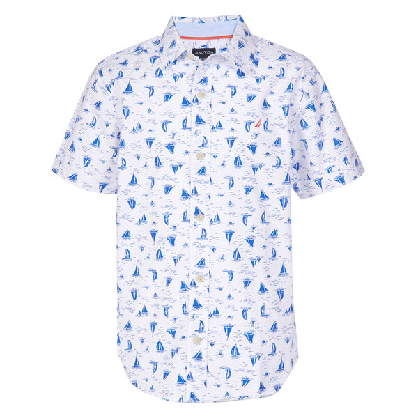 LITTLE BOYS' KIERAN SAILBOAT PRINTED SHIRT (4-7) - True Navy
