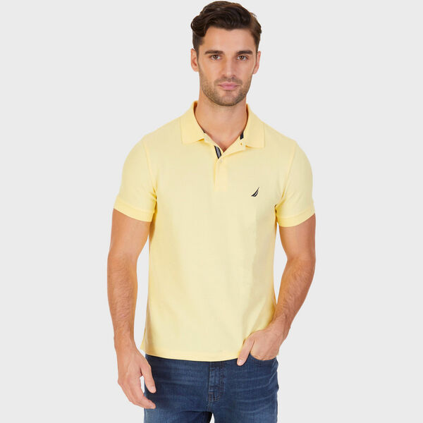Short Sleeve Slim Fit Performance Tech Polo Shirt - Corn