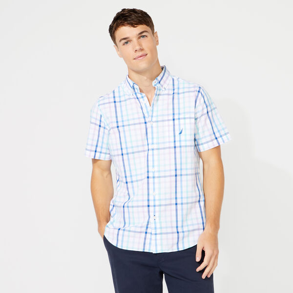 CLASSIC FIT PLAID SHIRT - Bright White