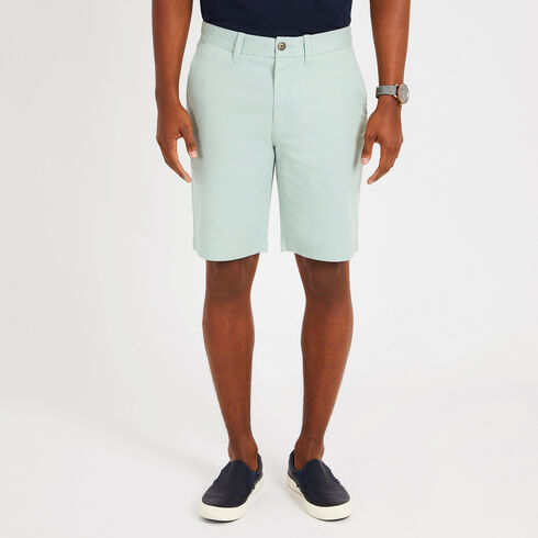 "Solid Stretch Slim Fit Shorts - 9.5"" Inseam - Green Terrain"