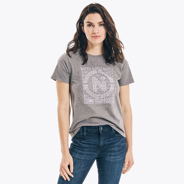 NAUTICA JEANS CO. SUSTAINABLY CRAFTED GRAPHIC T-SHIRT - Grey Heather