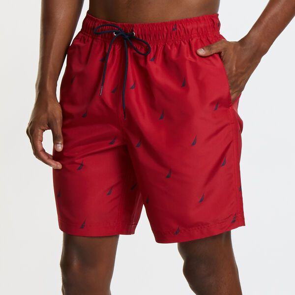 "8"" ALL OVER PRINTED J-CLASS SWIM TRUNKS - Nautica Red"