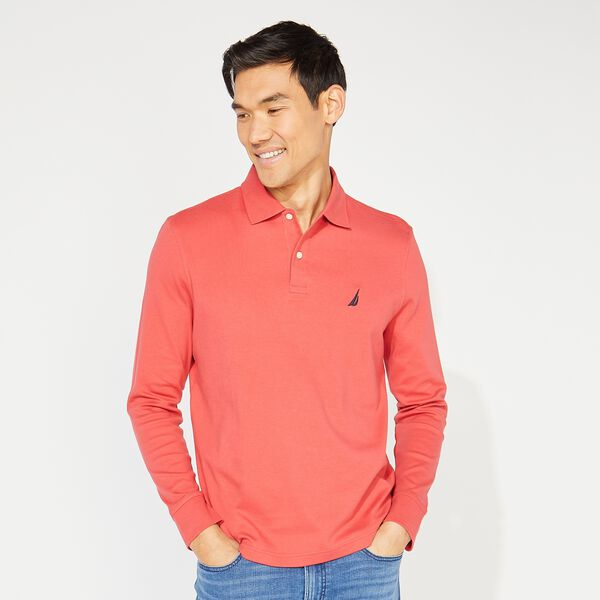 CLASSIC FIT LONG SLEEVE POLO - Sailor Red