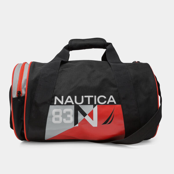 N83 LOGO GRAPHIC BARREL DUFFEL BAG - Black