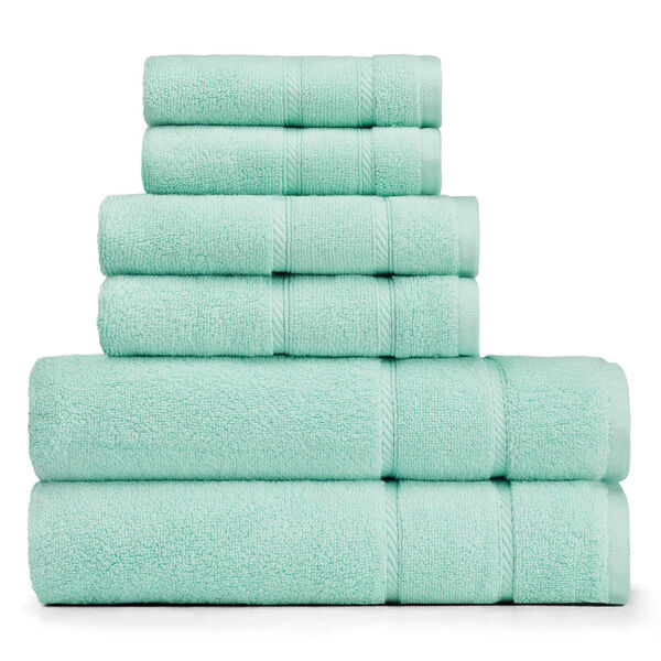 Belle Haven Towel Set - Sapphire/Pitch Yellow