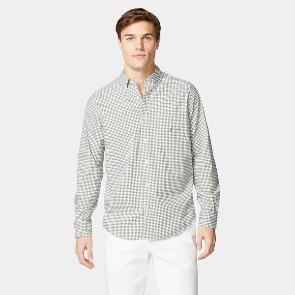 GINGHAM SHIRT - Everglades Green