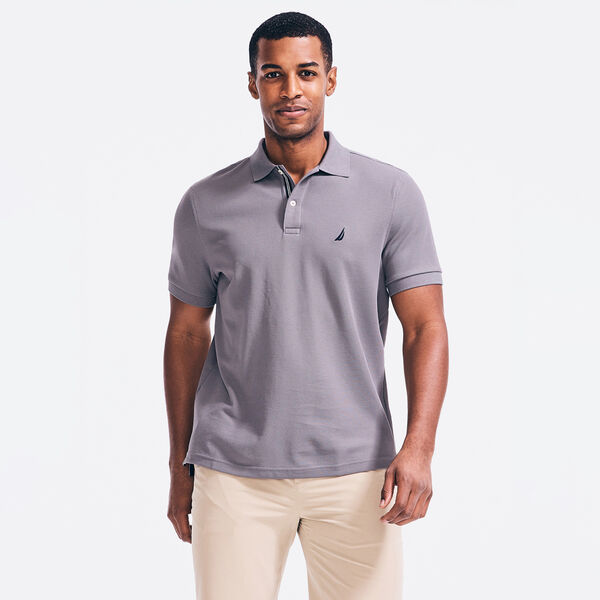 CLASSIC FIT PERFORMANCE PIQUE POLO - Blue Yonder Heather
