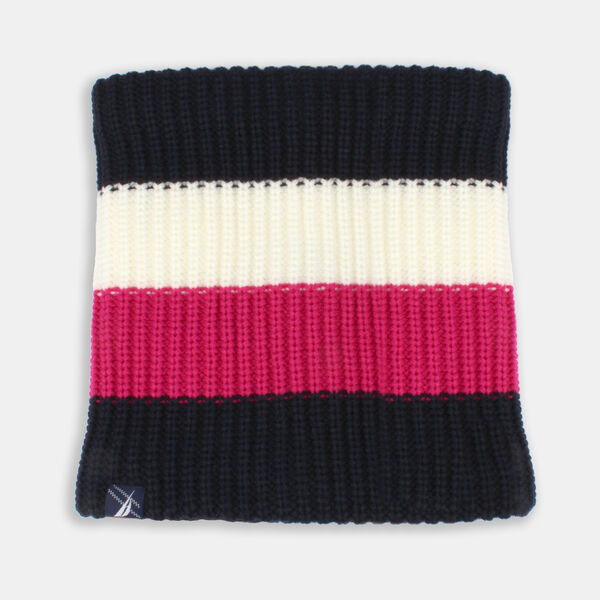 GIRLS' COLORBLOCK KNIT SNOOD - Crystal Bay Blue