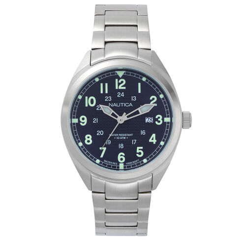 Battery Park Water Resistant Stainless Steel Watch - French Blue