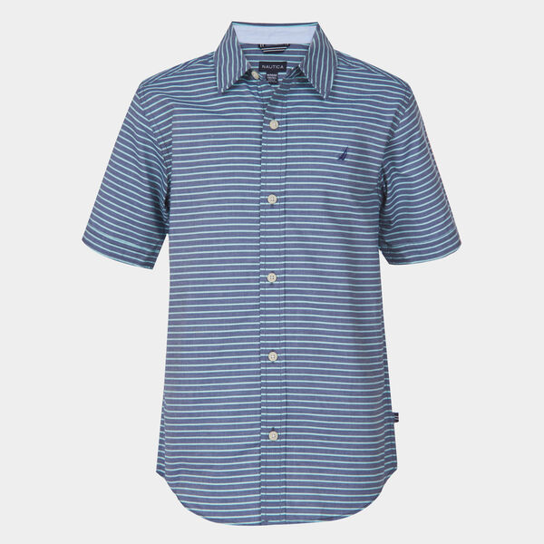 BOYS' BRADFORD STRIPED SHIRT (8-20) - Pure Deep Sea Wash