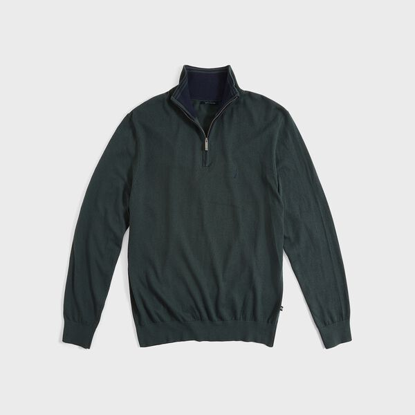 NAVTECH QUARTER-ZIP SWEATER - Green