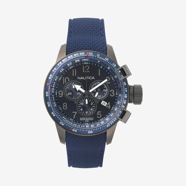 Galley Chronograph Watch with 2 Interchangeable Straps - Ice Blue