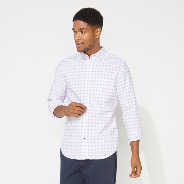 CLASSIC FIT LONG SLEEVE PLAID OXFORD SHIRT - Lavendula