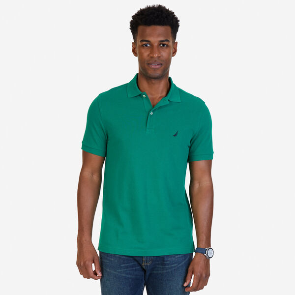 SLIM FIT MESH POLO - Verdant Green