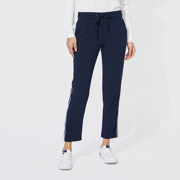 SIDE TRIM DRAWSTRING PANTS - Stellar Blue Heather