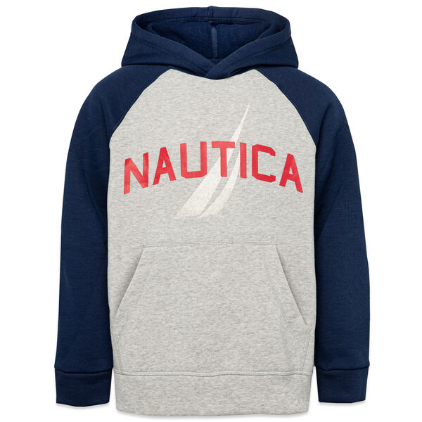 LITTLE BOYS' LOGO GRAPHIC PULLOVER HOODIE (4-7) - Grey Heather