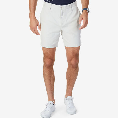 "Stretch Twill Classic Fit Performance Deck Shorts - 6"" Inseam - Nautica Stone"