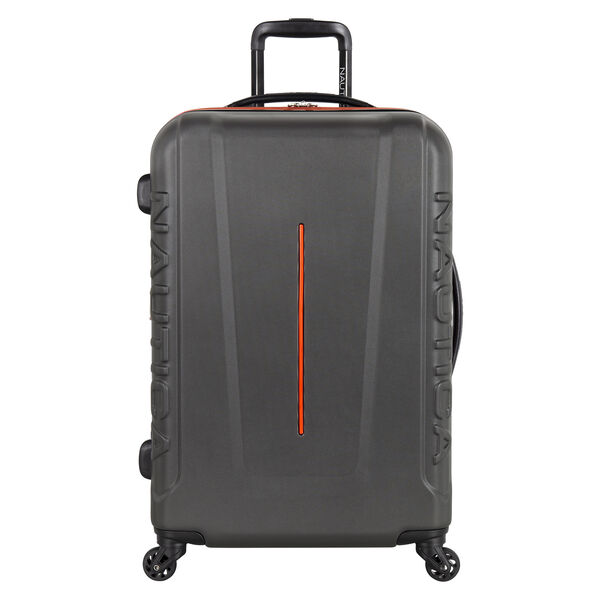 "Vernon Bay 24"" Hardside Spinner Luggage in Grey/Orange - Grey Heather"