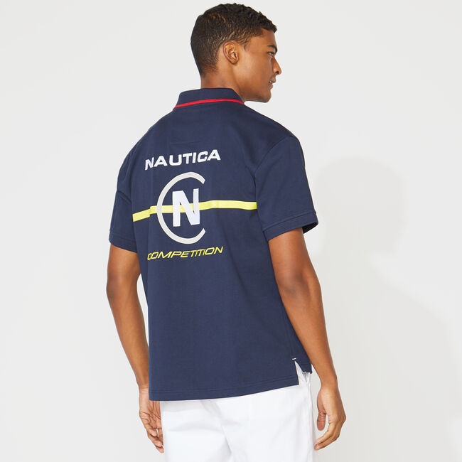 COMPETITION LOGO POLO,Navy,large