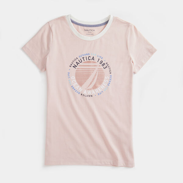 SUSTAINABLY CRAFTED OCEAN AWARENESS GRAPHIC T-SHIRT - New Pink