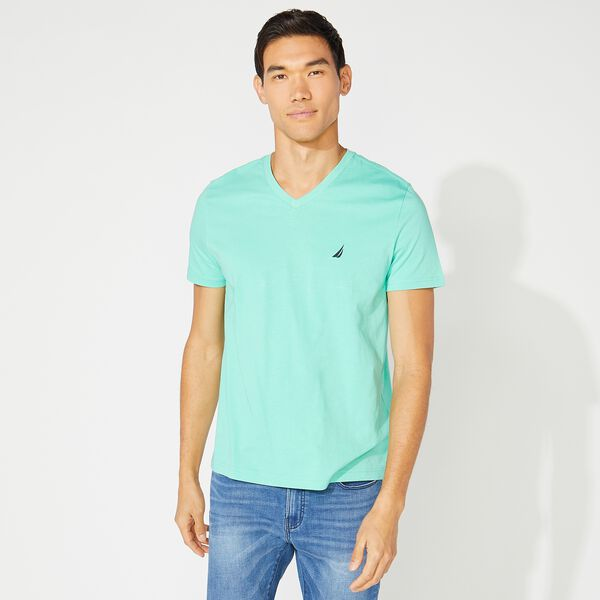BIG & TALL V-NECK T-SHIRT - Mint Spring