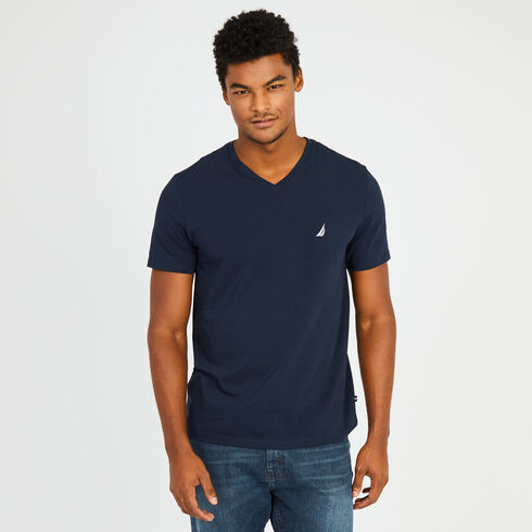 Slim Fit V-Neck T-Shirt - Navy