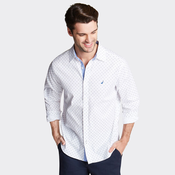 CLASSIC FIT OXFORD SHIRT IN PRINT - Bright White