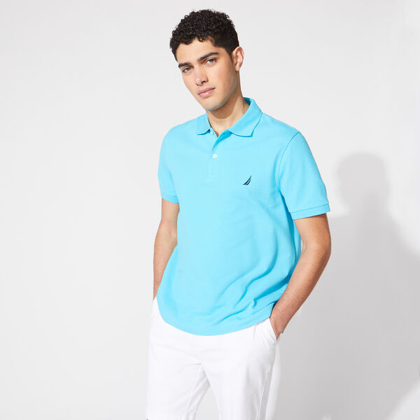 CLASSIC FIT PERFORMANCE PIQUE POLO - Aqua Sky