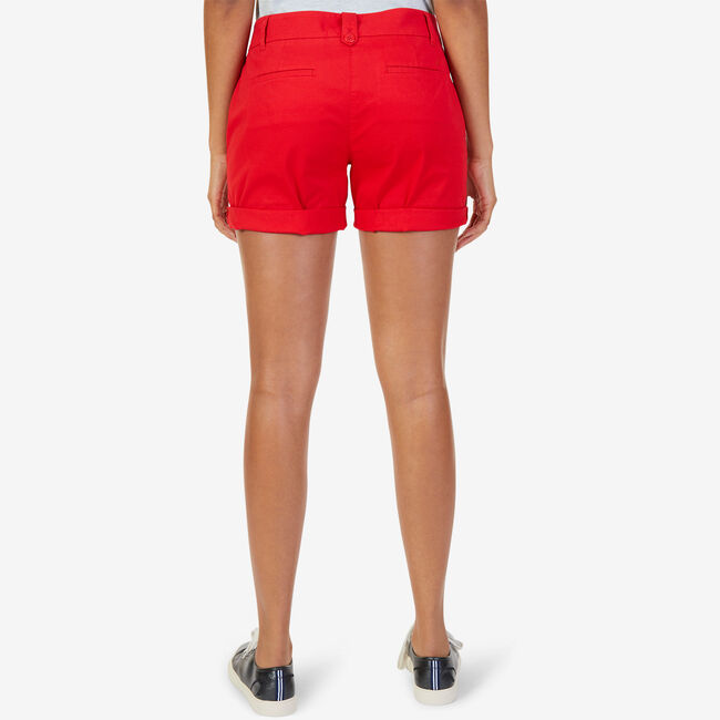 """Flat Front Stretch Twill Shorts - 7"""" Inseam,Tomales Red,large"""