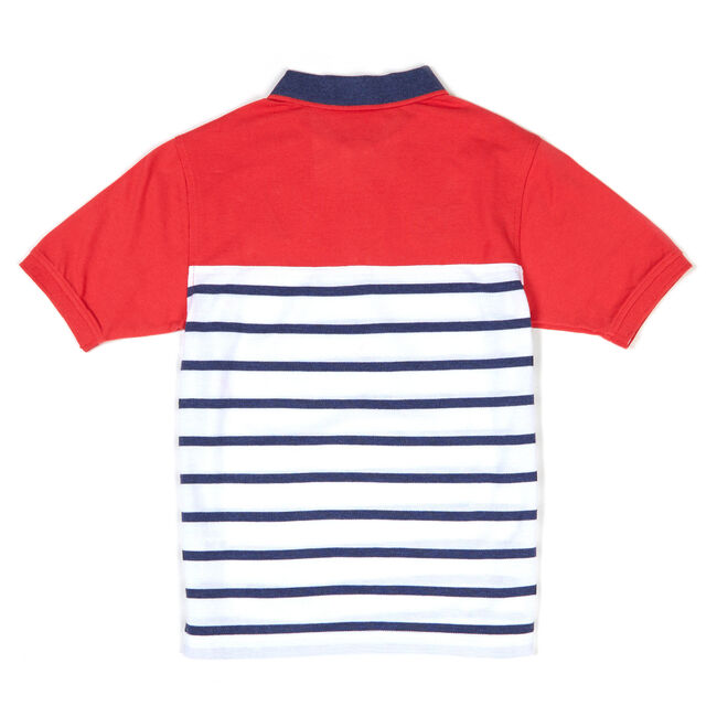 Toddler Boys' Flagship Stripe Heritage Polo (2T-4T),Rose,large