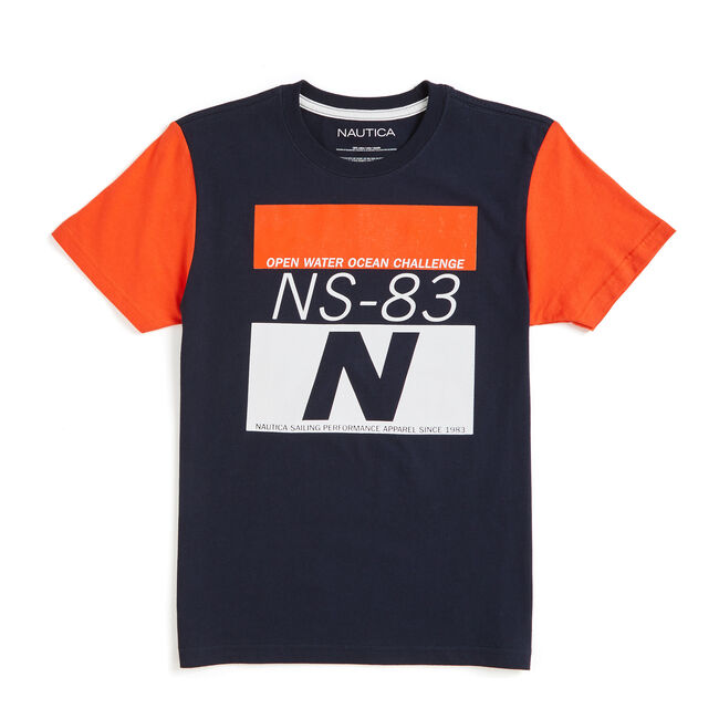 Little Boys' Levy NS-83 Ocean Challenge Tee (4-7),Sport Navy,large